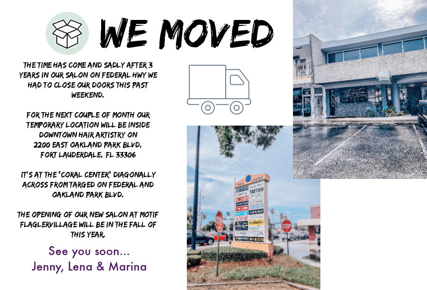 We moved to a temporary Location